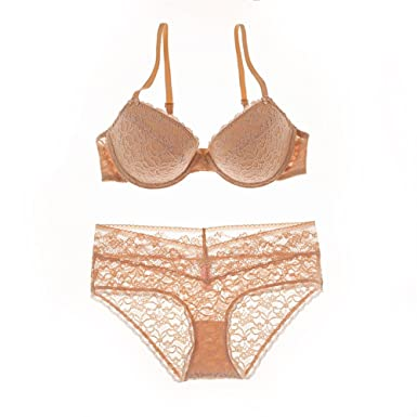 58bd1e121 Lace Bra Set Push up Bra Bra Panties Underwear Women Briefs Sexy Intimates Women s  Lingerie Set at Amazon Women s Clothing store