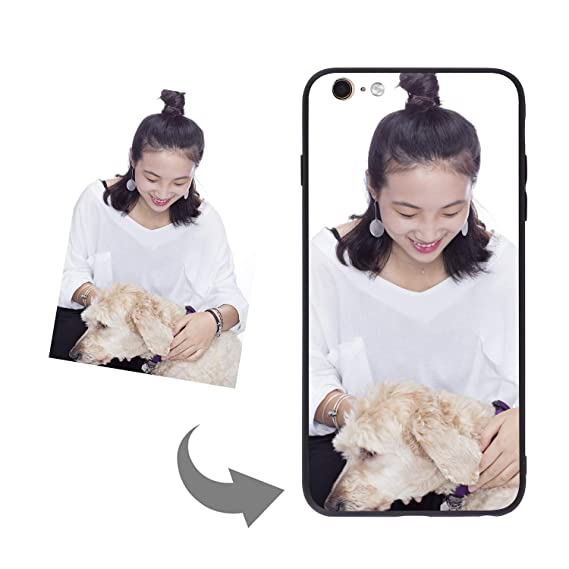 e71c428f Customize Your Own Phone Case - Tempered Glass Phone Case with Soft Edge  Personalized Photo/