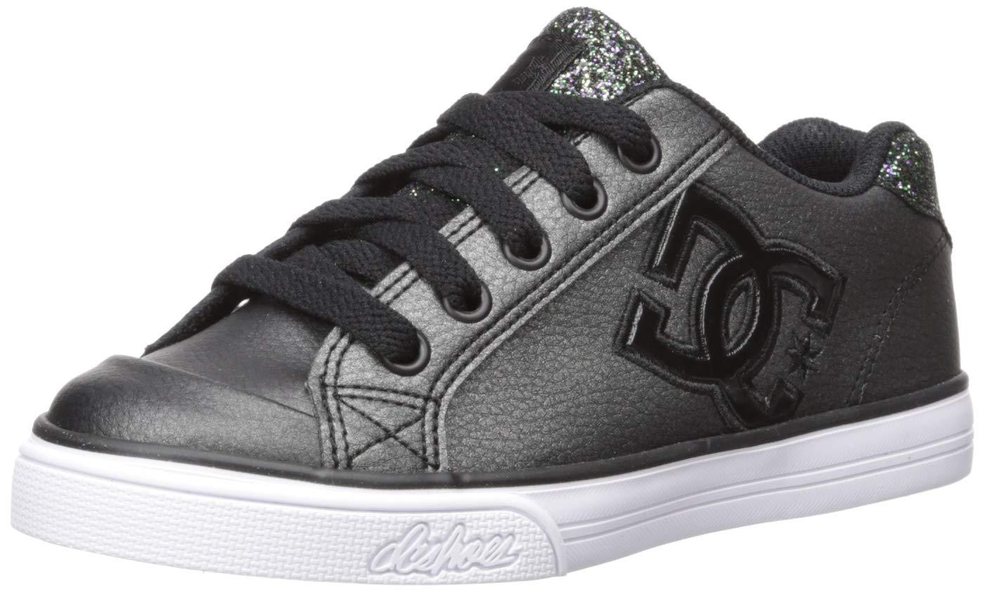 DC Girls Youth Chelsea SE Skate Shoes, Black Multi, 1 M US Little Kid
