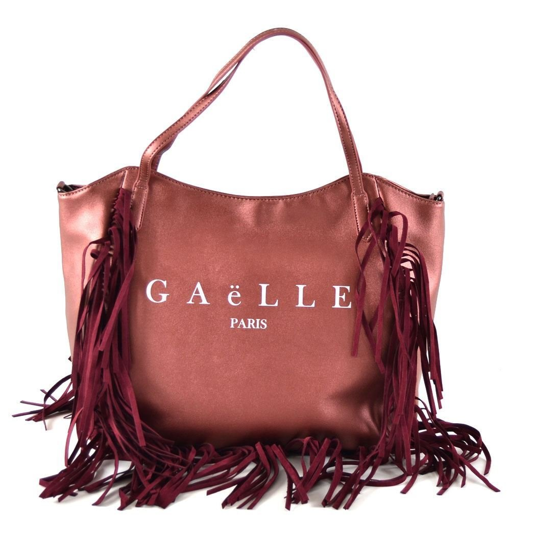 Gaëlle Paris shopping bag Lux bordeaux laminato