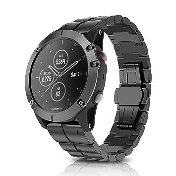 Crewell - Juego de Correa de Reloj de Repuesto para Garmin Fenix 5X Plus Smartwatch: Amazon.es: Electrónica