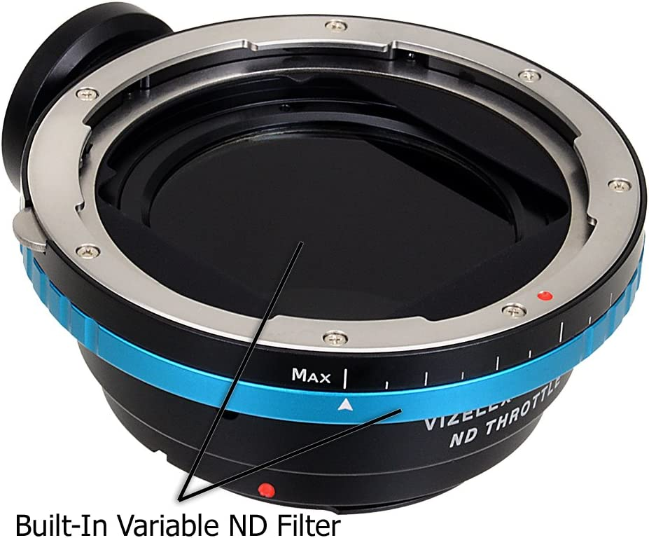- with Built-in Variable ND Filter EF, EF-s APS-C /& Full ND2-ND1000 Camera Vizelex ND Throttle Lens Mount Adapter from Fotodiox Pro Hasselblad V-Mount Lens to Canon EOS