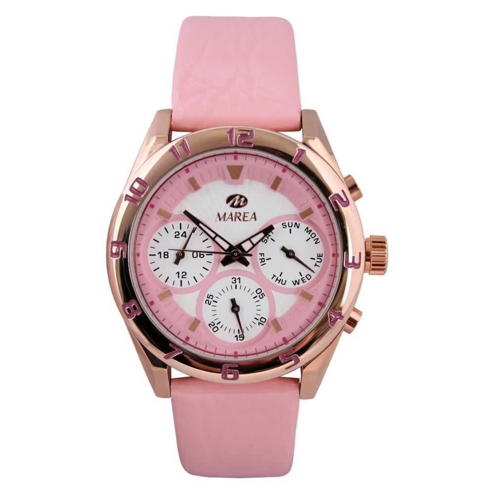 B35258/1 Reloj Marea Mujer, multifunción, caja de acero, correa de cuero, sumergible 50 metros, garantía 2 años.: Amazon.es: Relojes