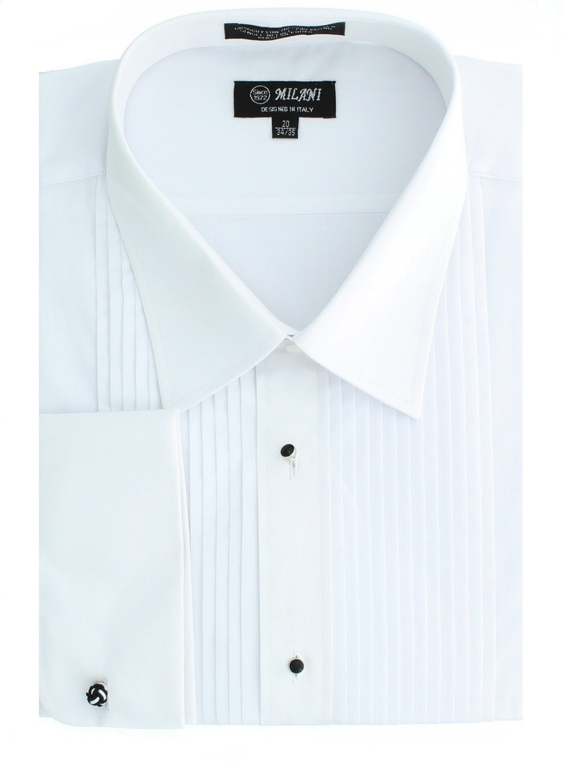 Milani Men's Tuxedo Shirt With French Cuffs 15.5'' 32/33 White by Milani