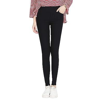 cdda8b9b23ec7b Petalum Women's High Waist Thick Jeggings Stretchy Denim Legging  Comfortable Fashion Jeans Trouser Workwear Plus Size