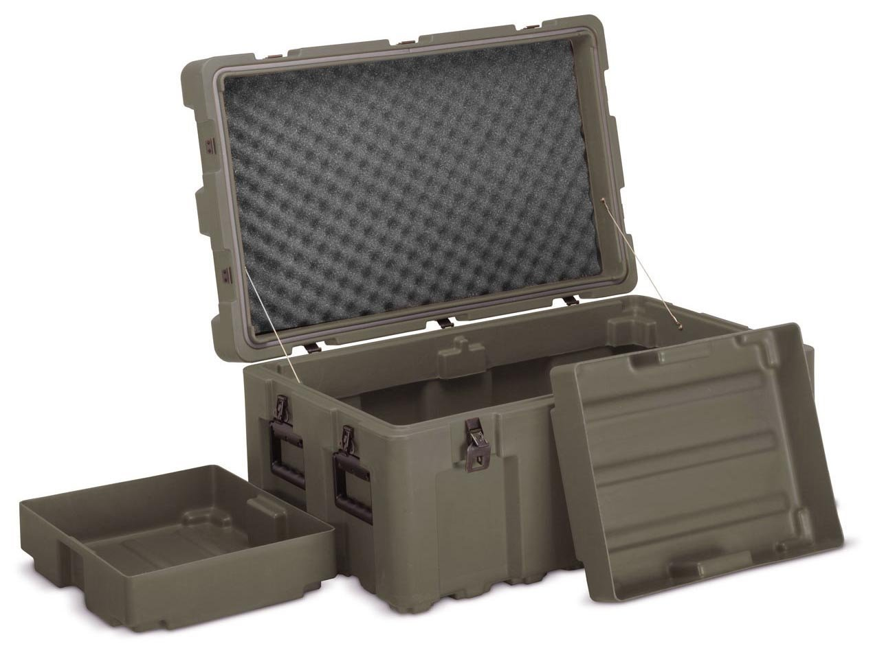 Amazon.com  Loadmaster Military Footlocker Case with Casters Removable Trays Lockable Hinged Lid from ECS Case Olive Drab  Sporting Goods  Sports u0026 ...  sc 1 st  Amazon.com & Amazon.com : Loadmaster Military Footlocker Case with Casters ...