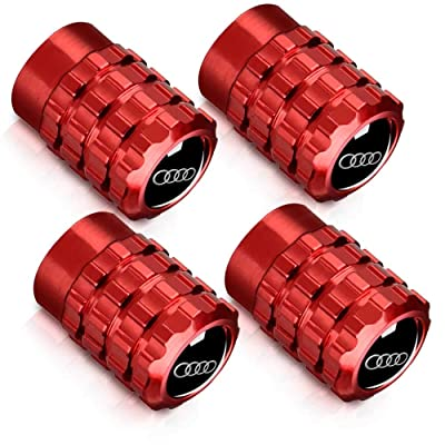 Baoxijie 4Pcs Metal Car Wheel Tire Valve Stem Caps Suit for Audi S Line S3 S4 S5 S6 S7 S8 A1 A3 RS3 A4 A5 A6 A7 RS7 A8 Q3 Q5 Q7 R8 Valve Caps(red): Automotive