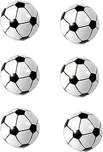 HozYi Set of 6 Football Soccer Cabinet Drawer Door Knobs Handles Boy Child Dresser Drawer Pulls Desk Handles Sports Nursery Home Bath Decor (Soccer)