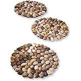 Limestone Rock Stepping Stones - Set Of 3