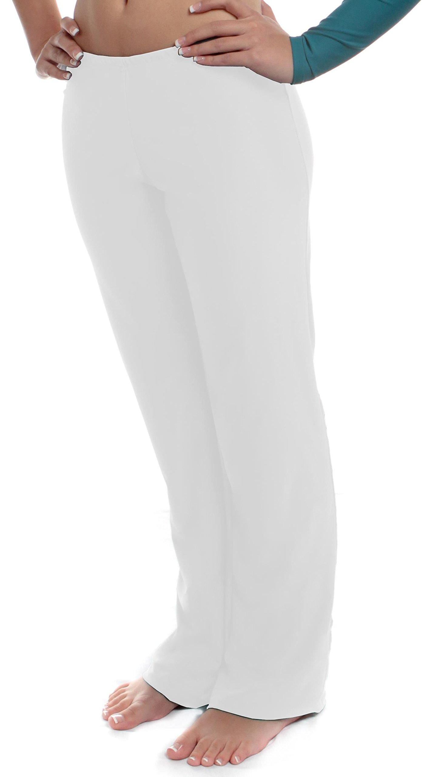 B Dancewear Girls Jazz Pants Medium White Child and Kid Sizes by B Dancewear