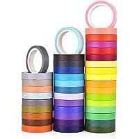 DishyKooker 40 Colors Bright Washi Tape DIY Decoration Diary Vivid Color Tape