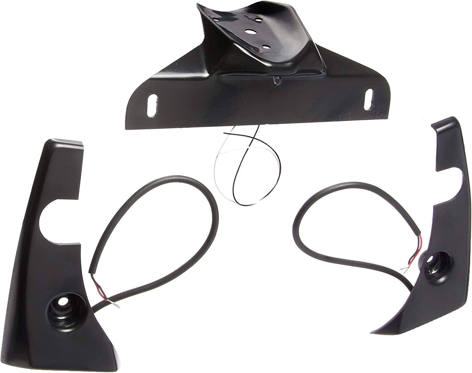 Hotbodies Racing 81501-1000 Black ABS License Plate TAG Bracket and Turn Signal Pods Kit