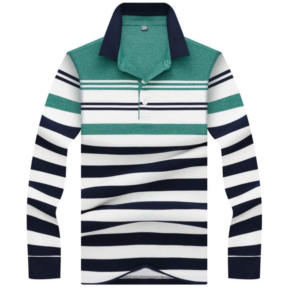 NISHIPANGZI Hombres nuevos Polos 3D Embroidery Striped Polo Shirt ...