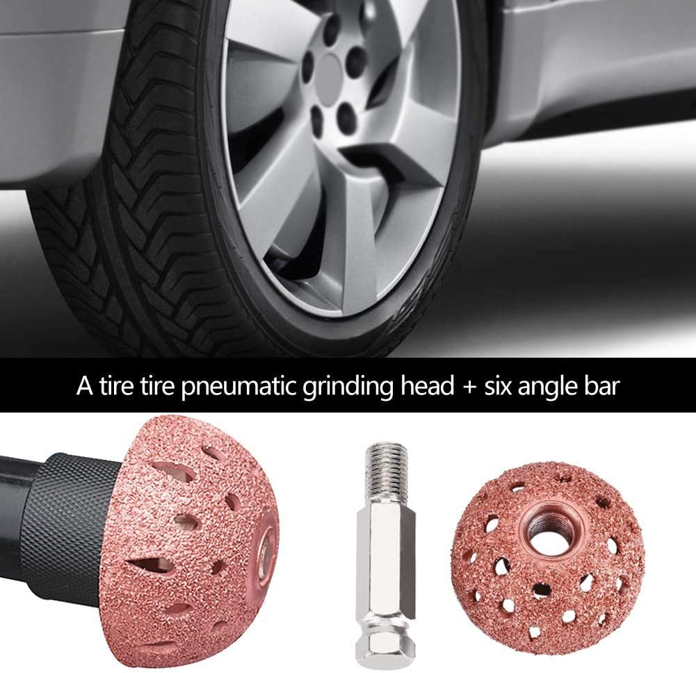 WonVon Tire Buffing Wheels,38mm Tire Repair Tool Grinding Head Coarse Grit Buffing Wheel Kits with Linking Rod Adapter