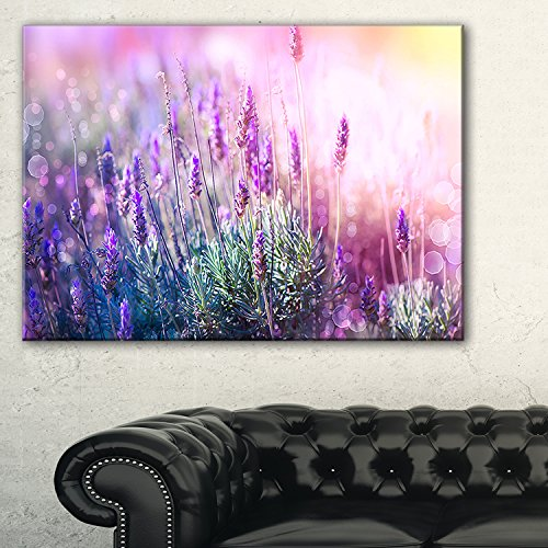 Growing and Blooming Lavender Floral Photo Canvas Art Print, - flower wall art