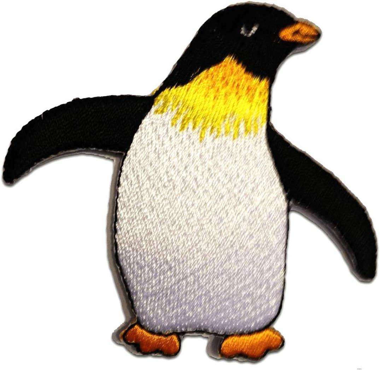 Parches - pingüino niños animal Happy Feet - blanco - 7,8x7,2cm - termoadhesivos bordados aplique para ropa: Amazon.es: Hogar