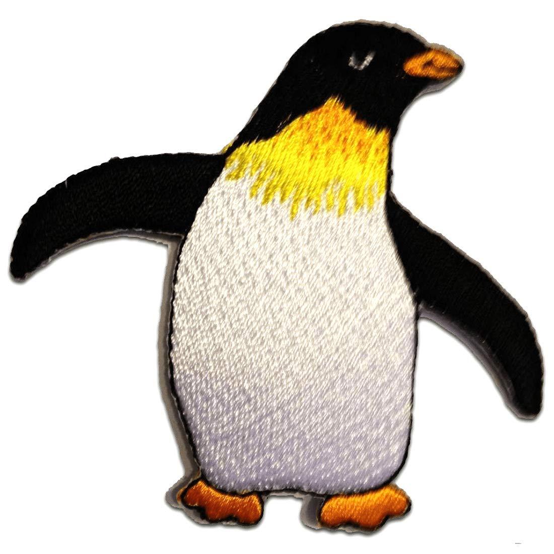bianco 7,8x7,2cm Patch Toppa ricamate Applicazioni Ricamata da cucire adesive Toppe termoadesive pinguino bambini animale Happy Feet