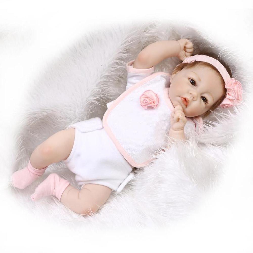 SHTWAD Reborn Baby/Puppe Weiche Silikon Simulation Schöne Spielzeug Ausbildung Requisiten Geburtstagsgeschenk