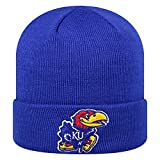 Top of the World Kansas Jayhawks Official NCAA Cuffed Knit Tow Beanie Stocking Stretch Sock Hat Cap 933900