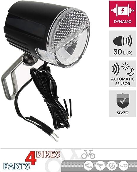P4B - Faro Delantero LED para Bicicleta (30 Lux, luz de posición ...