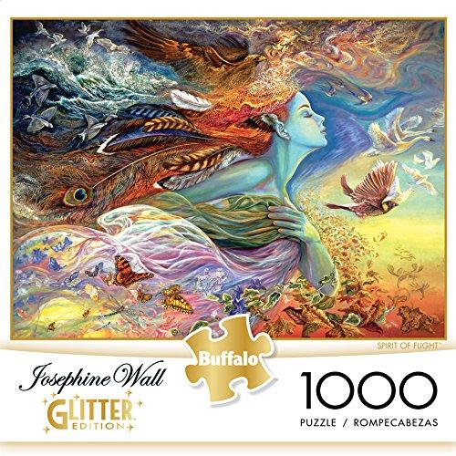 61vvpONl9ZL - Buffalo Games - Josephine Wall - Spirit of Flight - Glitter Edition - 1000 Piece Jigsaw Puzzle