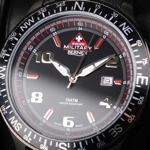 Swiss Military Bernex Black Dial Watch Black