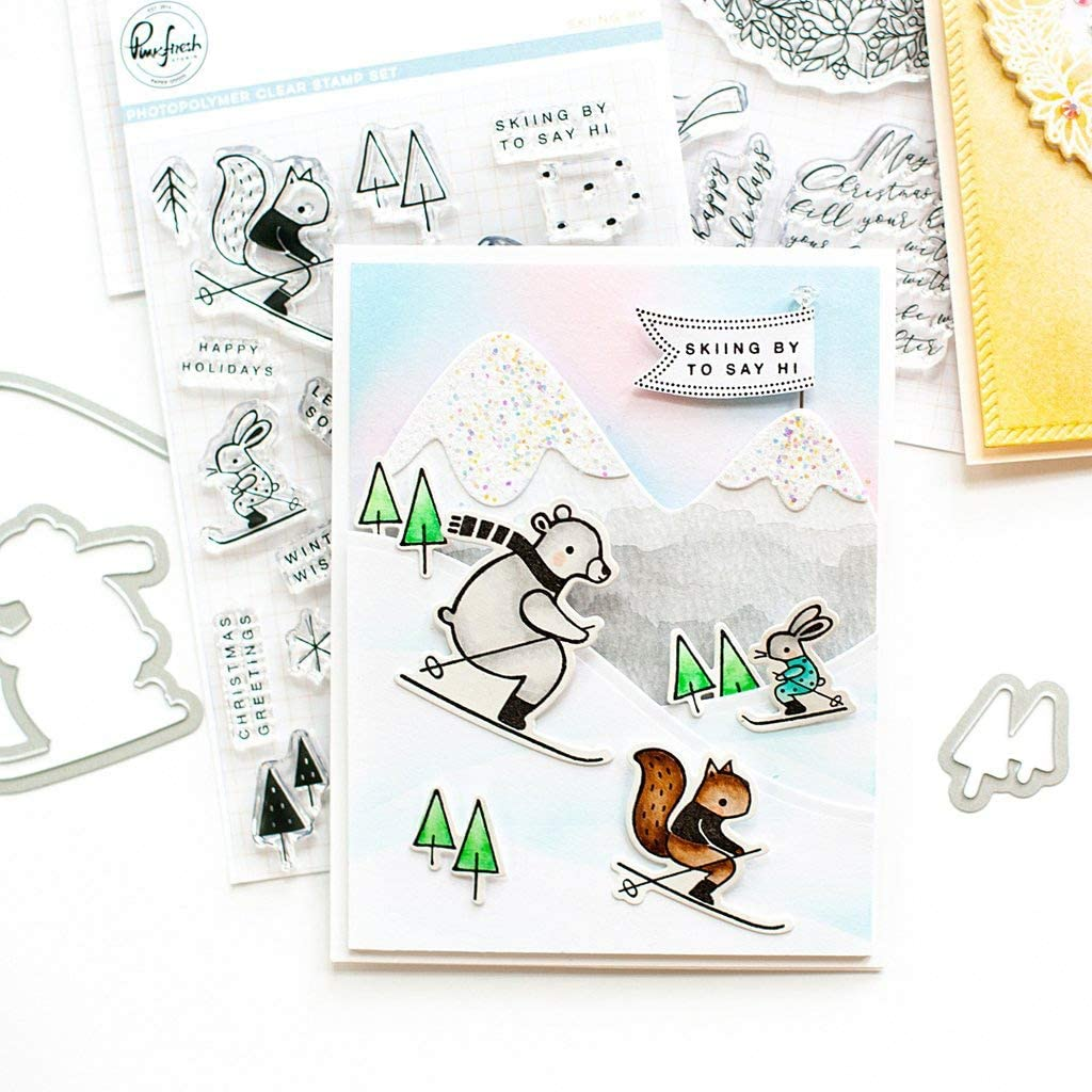 PINKFRESH STUDIO PFCS2819 PINKFRESH STAMP 6X8 SKIING