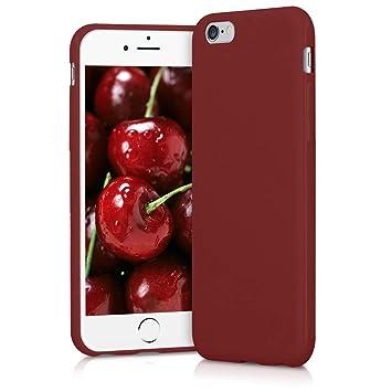 kwmobile Funda para Apple iPhone 6 / 6S - Carcasa para móvil en [TPU Silicona] - Protector [Trasero] en [Rojo Mate]