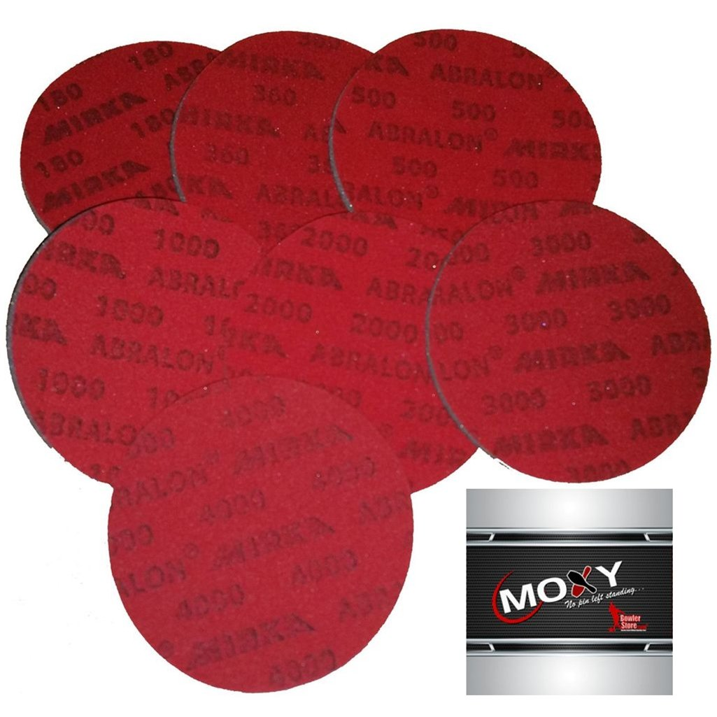 2 Sets of Bowlerstore Abralon Sanding Pads- Set of all 7 Grits plus Moxy Towel