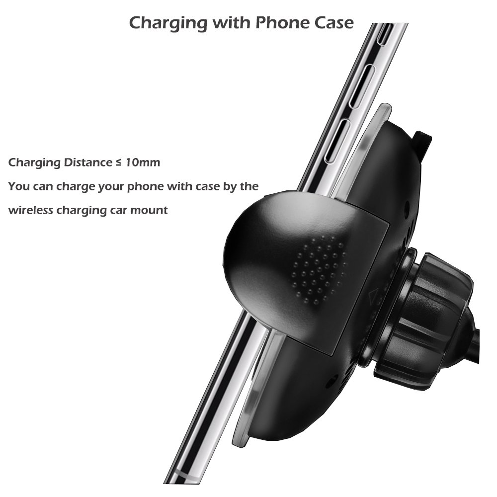 Wireless Charging Car Mount KONKY 2 in 1 Car Air Vent Dashboard Phone Holder Full Rotatiion Wireless Charger Cradle Stand for iPhone X//8//8 Plus Samsung S8//S8 Plus and Other QI-Enable Devices 4351690731