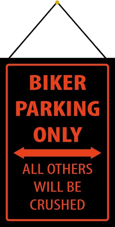 FS Biker Parking only All Others Blechschild Schild gew/ölbt Metal Sign 20 x 30 cm mit Kordel