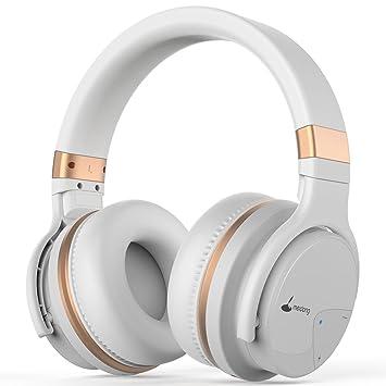 Auriculares Bluetooth, Meidong E7B Auriculares inalámbricos ligeros con micrófono Hi-Fi Sonido Auriculares de