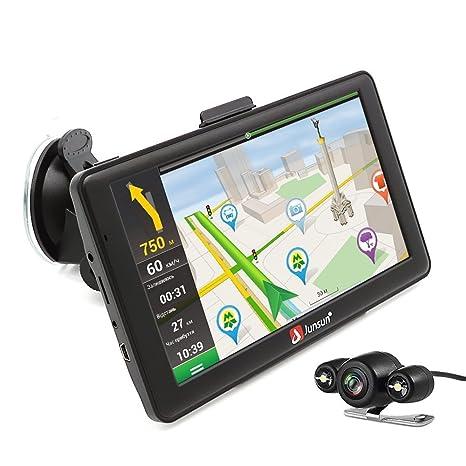 junsun coche GPS Navigation Android Quad-Core WiFi Bluetooth con Reino Unido y Full UE
