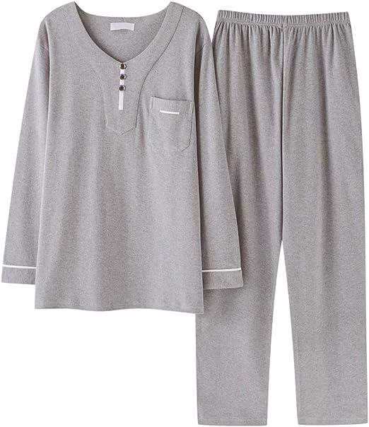 Pijamas para Hombre Otoño e Invierno Algodón Servicio de hogar de ...