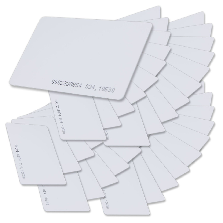 PAC Supplies USA 100 Pcs White 125Khz 1.9mm RFID Access Proximity Card Trademark Product