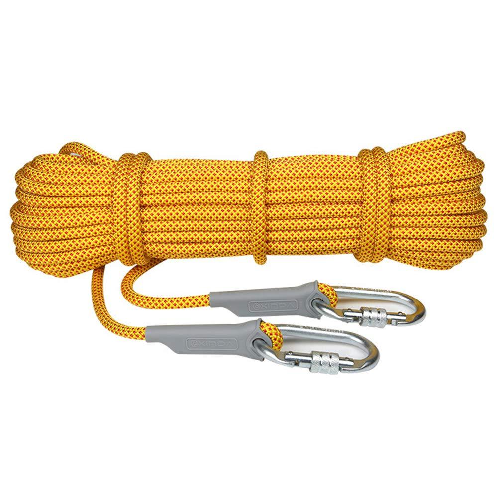 ロッククライミングロープ、ファイアエスケープレスキュー安全ロープ14 mmトレーニング用具ロープ多目的洞窟作業用高さサバイバルコード,yellow,70m 70m yellow B07R2KKHPC