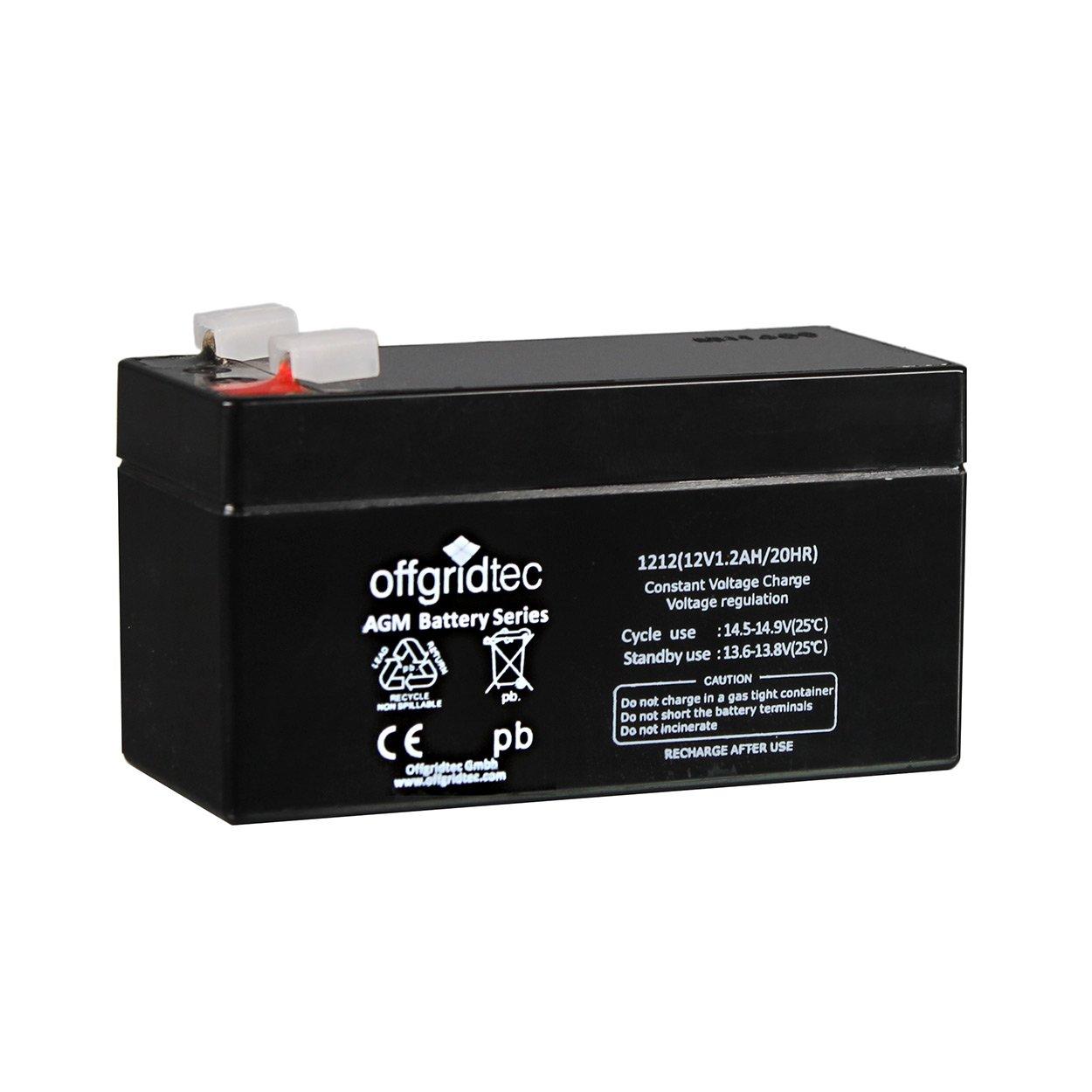 Offgridtec AGM Solar Batterie fü r zyklische Anwendungen 4,2 Ah C 10, 2-01-001475