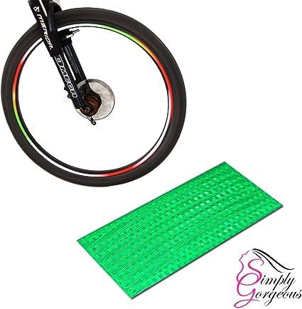 SPOKE REFLECTORS Bike Bicycle Wheel rim tube tire Glow Neon FOR CYCLING 12
