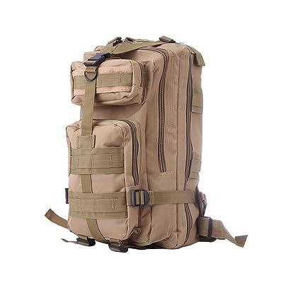 WINOMO Hiking Backpack Small Rucksacks Trekking Camping Pack Travel Bag 20-35L (Khaki)