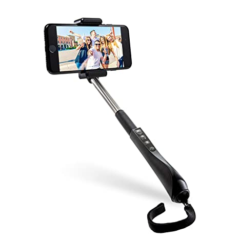 info for 5567b 38f2e Polaroid 40 Inch Selfie Stick With Integrated Bluetooth Remote Release In  Grip For IOS and Android Bluetooth Camera Devices and Digital Cameras