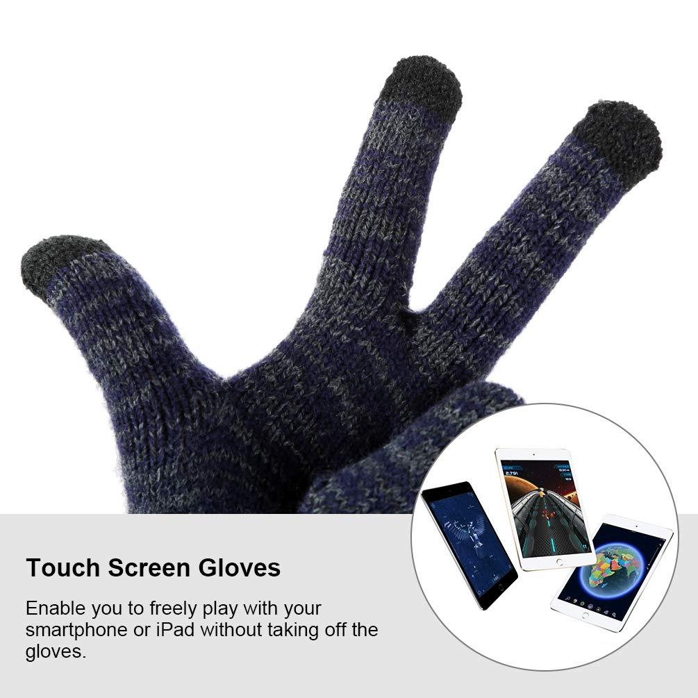 VBIGER Women Men Winter Hat Scarf Gloves Knitted Set,3 Pieces