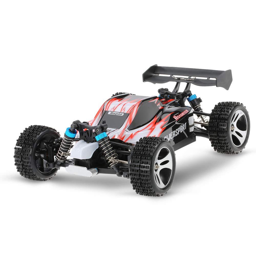 Mogicry Control Remoto eléctrico Racing Car 2.4 GHz Pista de Carga Multifunción Off-Road Coche Antideslizante Ultra Alta Velocidad RC Modelo de Coche de Juguete niño niño Regalo para niños 3+