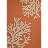 2u0027 x 3u0027 creamy orange and coral white bough out grant outdoor area throw rug