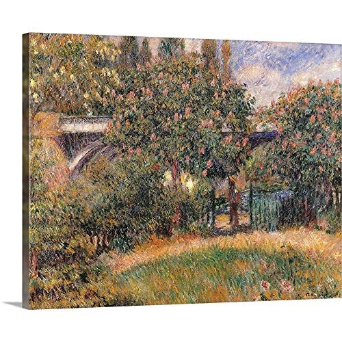 GREATBIGCANVAS Gallery-Wrapped Canvas Entitled Railway Bridge at Chatou (Yvelines), by Pierre-Auguste Renoir, ca. 1881 by Pierre Auguste (1841-1919) Renoir 14