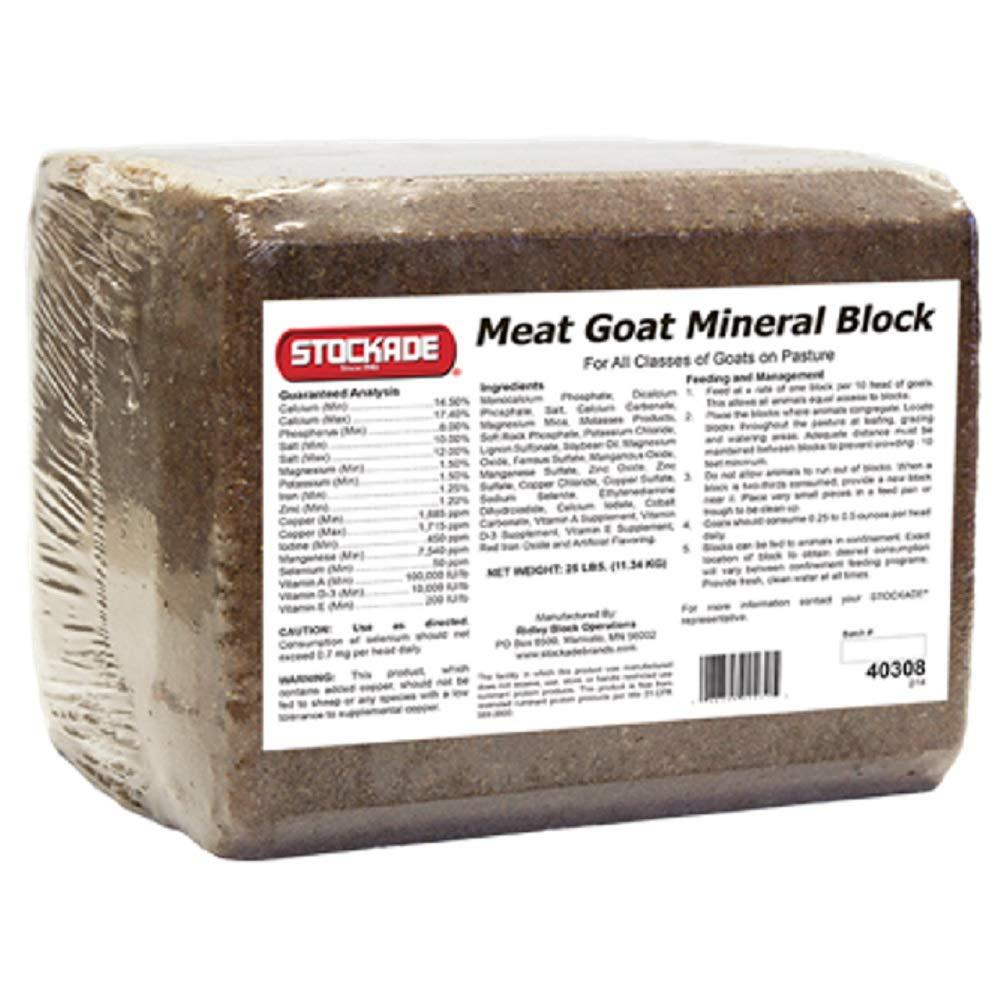 Stockade Meat Goat Mineral Block, 25 Lbs.