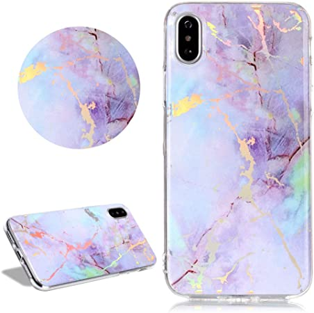Daskan Glitzer Marmor Muster Hülle Für Iphone Xr Elektronik