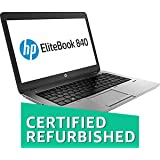 (Renewed) HP Ultrabook 840G1-16 GB-128 GB 14-inch Laptop (3rd Gen Core i5/16GB//Windows 10/Integrated Graphics), Black