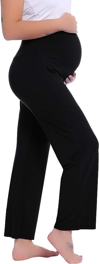 Joyaria Womens Maternity Pregnancy Sweatpants Long Yoga Pajama Lounge Pants Over The Belly At Amazon Women S Clothing Store