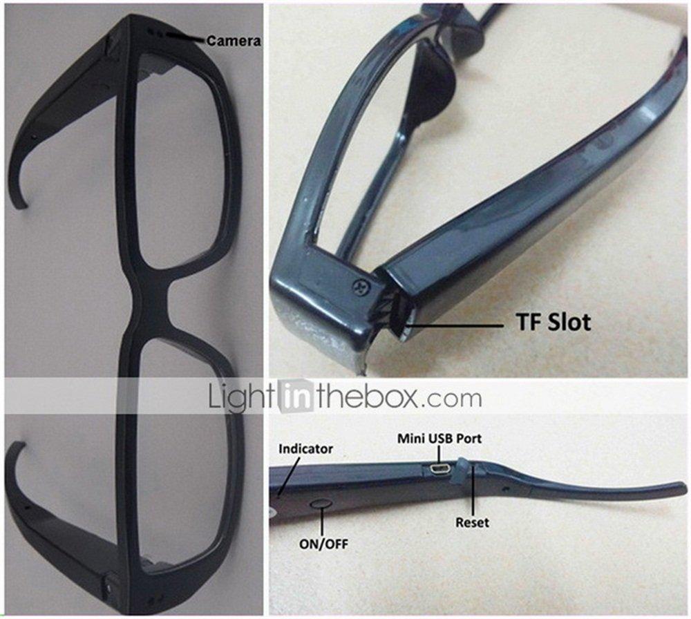 16GB 720P DV Camera Eyewear Recorder DVR Digital Glasses Video Cam Camcorder(With No Memory Card)