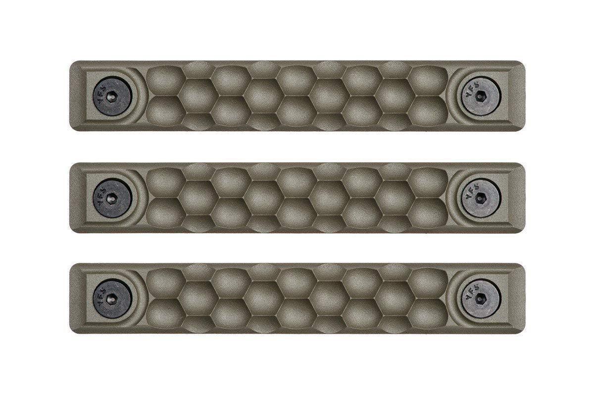 RailScales High Temp Polymer HTP Scales - Multiple Options (KeyMod 3 Pack, Honeycomb OD Green)